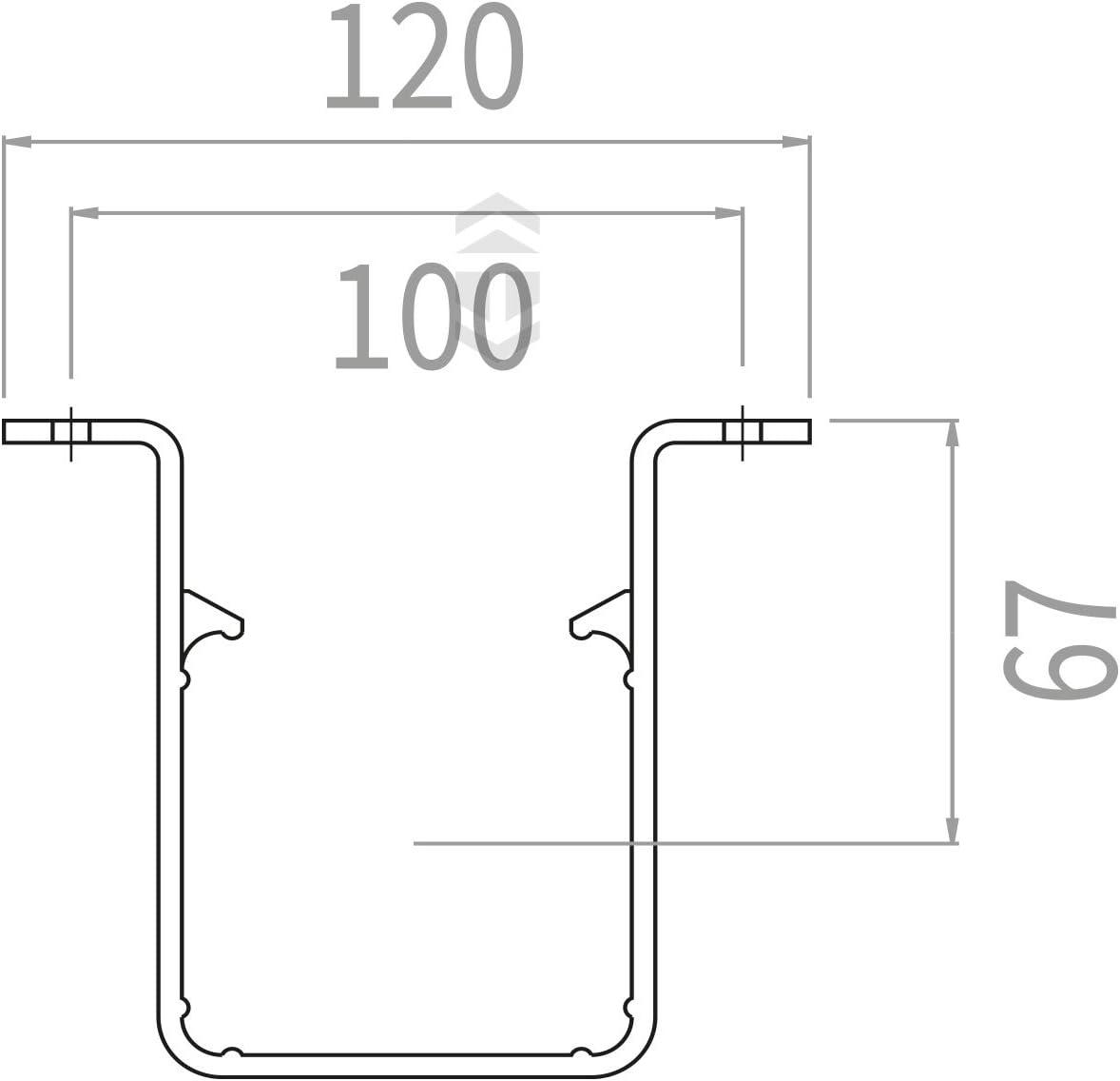 Black Marshal Tufflex RWSC1BL Square Downpipe Clip Marshall Tufflex uPVC Plastic Rainwater Gutter System