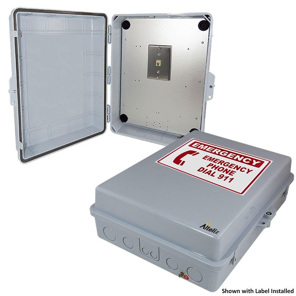 Altelix Outdoor Weatherproof Phone Call Box 17x14x6 Polycarbonate + ABS NEMA 3X Rated