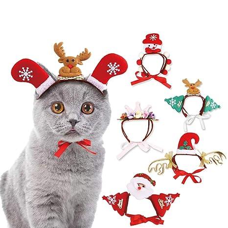 Smoro 2pcs Mascota Perro Gato tocados para Navidad Halloween Mascota Gato  Sombreros Santa Sombreros Perro Gato 6efbfb6a6a8