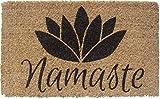 "Entryways Namaste Handmade, Hand-Stenciled, All-Natural Coconut Fiber Coir Doormat 18"" X 30"" x .75"""