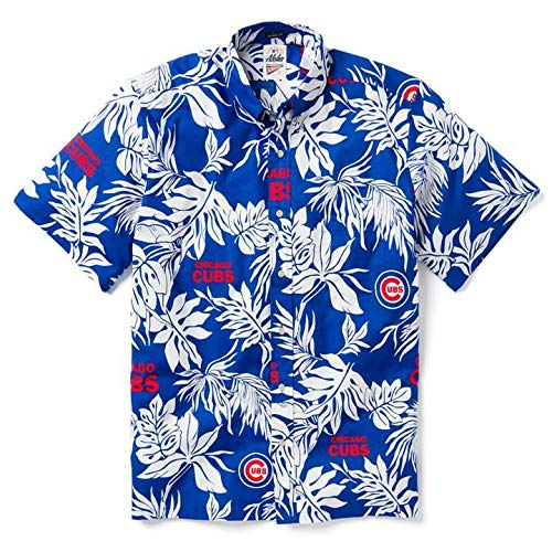Reyn Spooner Men's Chicago Cubs MLB Classic Fit Hawaiian Shirt, Aloha 2019, X-Large