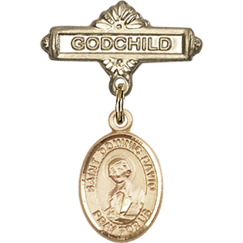 ゴールドFilled Babyバッジwith St x。Dominic 5 SavioチャームとGodchildバッジピン1 x 5/ St。Dominic 8インチ B00PQ85GMS, メモシア:a9a74506 --- ferraridentalclinic.com.lb