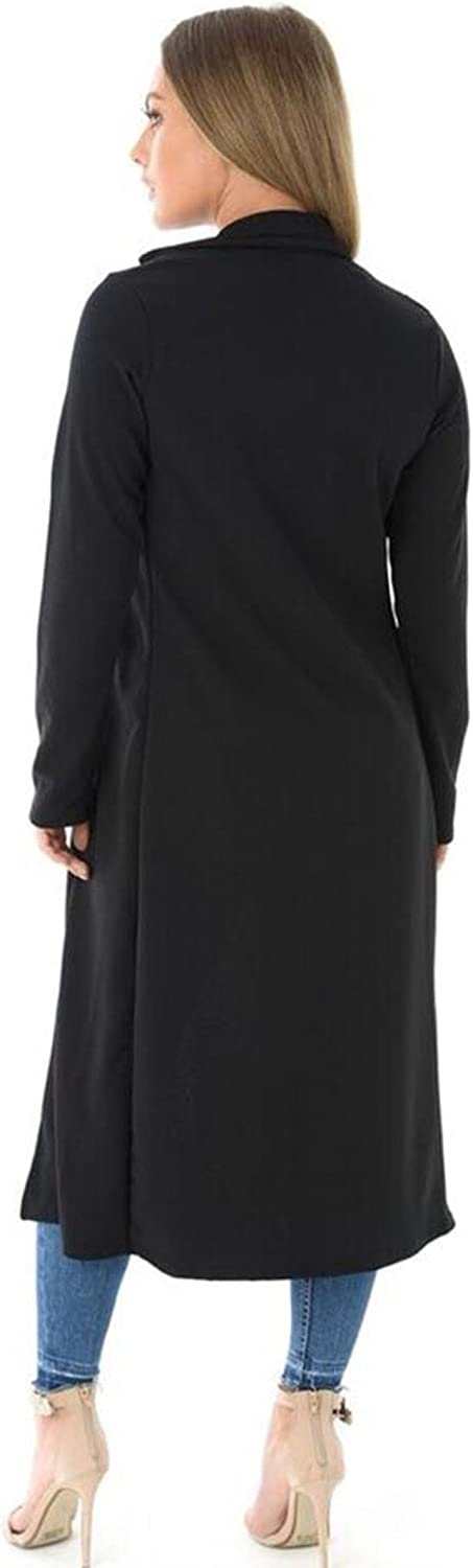 Vanilla Ink /® Ladies Womens Casual Lightweight Plain Long Duster Coat Cardigan Jacket