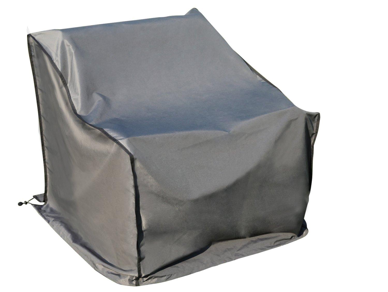 Copri Copertura Cover Protezione per Divano | 241 x 86 x 90/61 cm (L x P x A/A) | Grigio | Idrorepellente | SORARA | Poliestere con strato in poliuretano | Per Mobili da Giardino, Terrazzo, Cortile | Qualità Alta