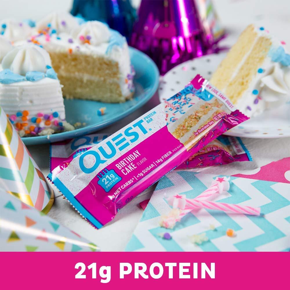Quest Nutrition Bars Birthday Cake 12 X 60 Gramm Amazonde Drogerie Korperpflege