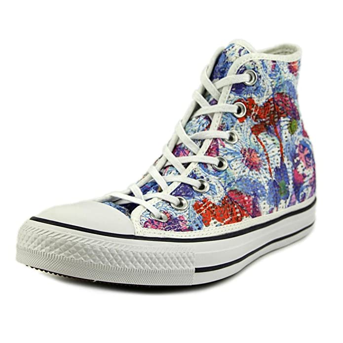 Converse Sneaker Alta all Star Hi Tiny Crochet Print Bianco