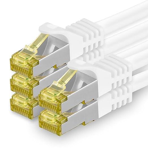 4 opinioni per Cavo di rete Ethernet Lan Cat.7SFTP spina RJ45Cat6a, doppia schermatura, UTP,