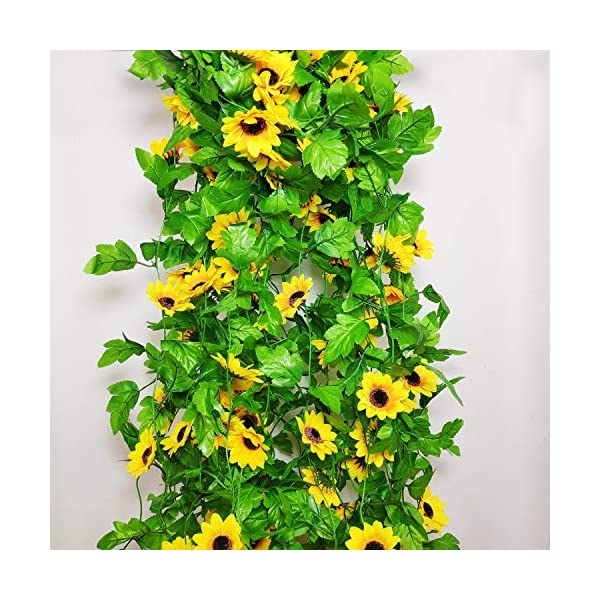 8-Pcs-85-Feetpiece-Artificial-Sunflower-Hanging-Vines-Fake-Flower-Greenery-Garland-Silk-Plant-Leaves-String-Green-Leaves-Vines-for-Home-Hotel-Office-Garden-Wedding-Party-Outside-Decoration