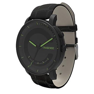 Hybrid Smartwatch, reloj de cuarzo con notificación recordatorio vibración y actividad Tracker correa de acero