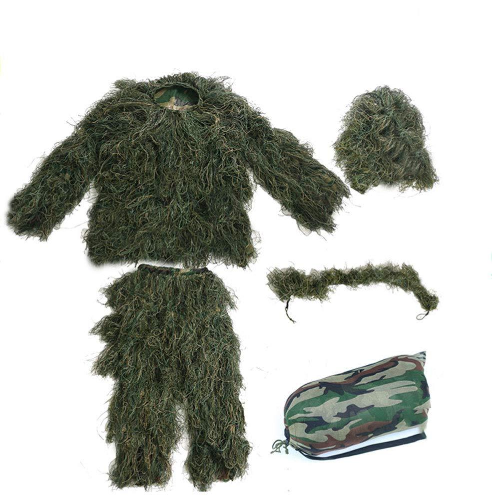 Camouflage-Anzug, Verschlüsselungsverstärkung, für Jagd-Shooter, geeignet für jede Höhenperson, fünfteilige Anzug-Dschungel-Farbe (größe : Adult)