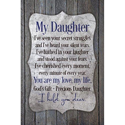 Dexsa My Daughter.New Horizons Wood Plaque ()
