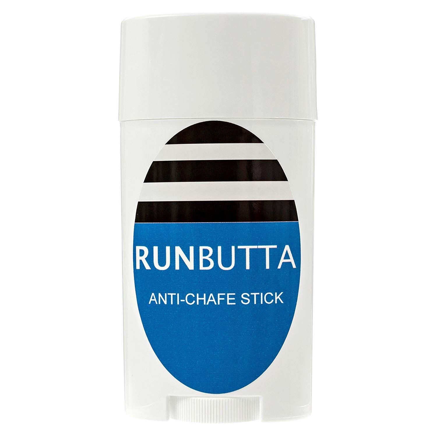 Anti Chafe Balm by Run Butta, 2.5 Ounce Stick - Eliminate Painful Skin Chafing Caused by Rubbing/Friction - Ideal for Inner Thighs - Paraben Free, Water and Sweat Resistant Anti Chafing Cream