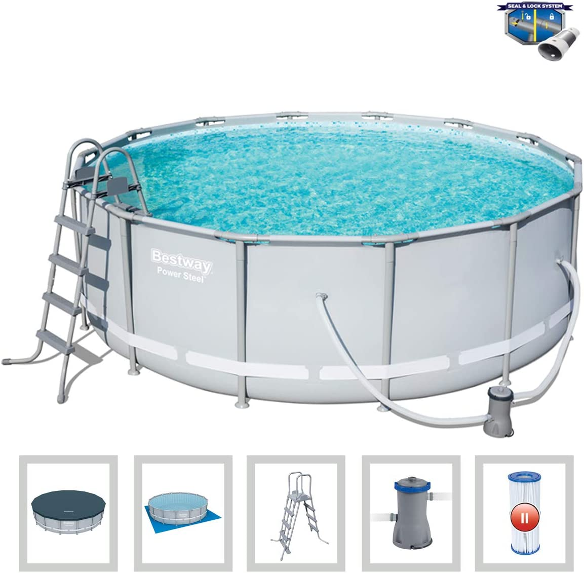 Piscina tubular Bestway Power Steel 15 232 L Dim 427 x 122 cm Pack ...