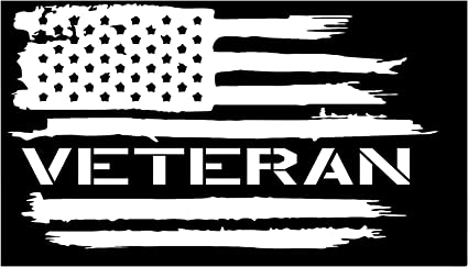 VETERAN FLAG USA VINYL DECAL  MANY COLORS FREE SHIPPING