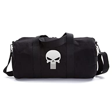 1cb64042e1 The Punisher Skull Vintage Army Duffel Sports Shoulder Bag