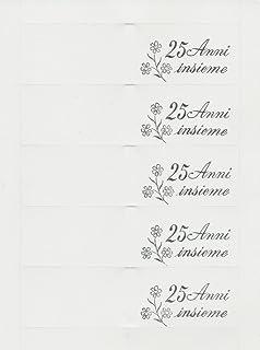 Biglietti Bomboniere 25 Anniversario Matrimonio 50 Pezzi