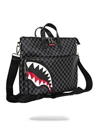 2a5d0698f67a Amazon.com  Sprayground Sharks in Paris Black Grey Checker Travel Festival  Bag  BRITISH BRANDS GROUP