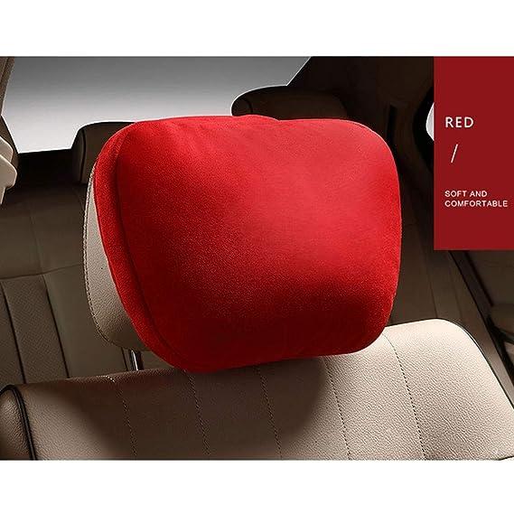 RONSHIN Soft Car Headrest//Auto Seat Cover Cushion Neck//Adjustable Pillow for Mercedes-Benz black