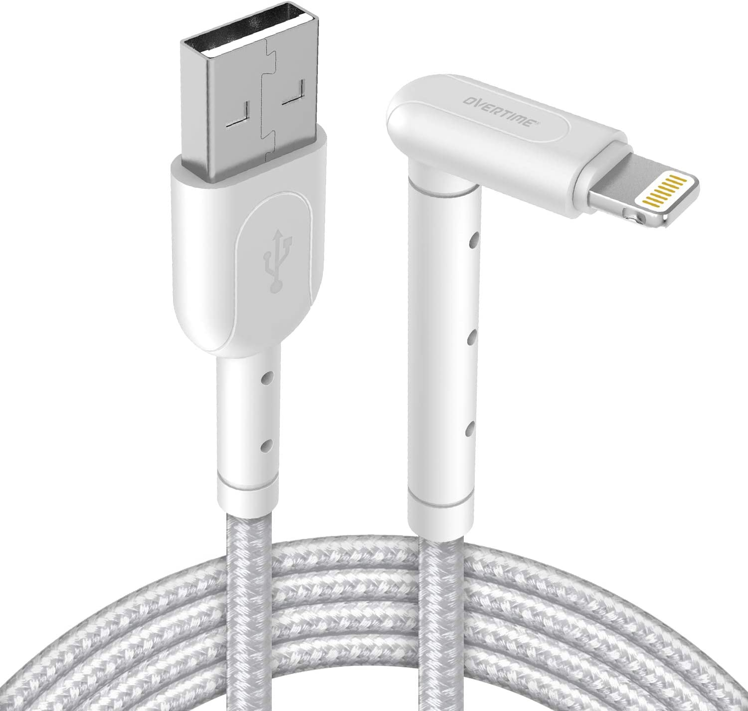 iPad//iPad Air 2//Mini 4//3//2 iPhone Charger Cable White Overtime Apple MFi Certified Lightning Cable 6ft USB Cord for iPhone 11//11 Pro//11 Max//X//XS Max//XR//8 Plus//7//6//SE 2-Pack