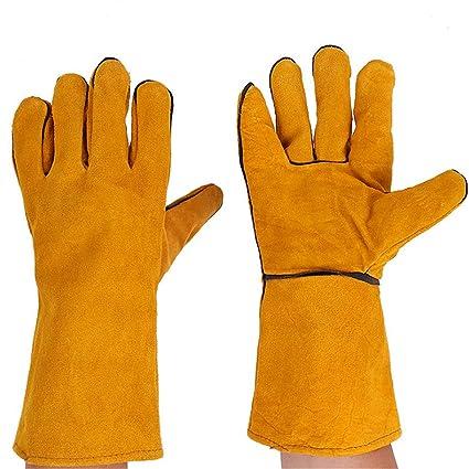 3 pares 35cm de largo multifunción soldadura soldadura guantes para MIG TIG ARC MMA Calor resistente