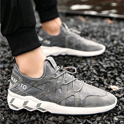Scarpe da uomo scarpe da ginnastica scarpe da ginnastica traspirante scarpe da svago sportivo per campeggio trekking trekking , Gray , 39
