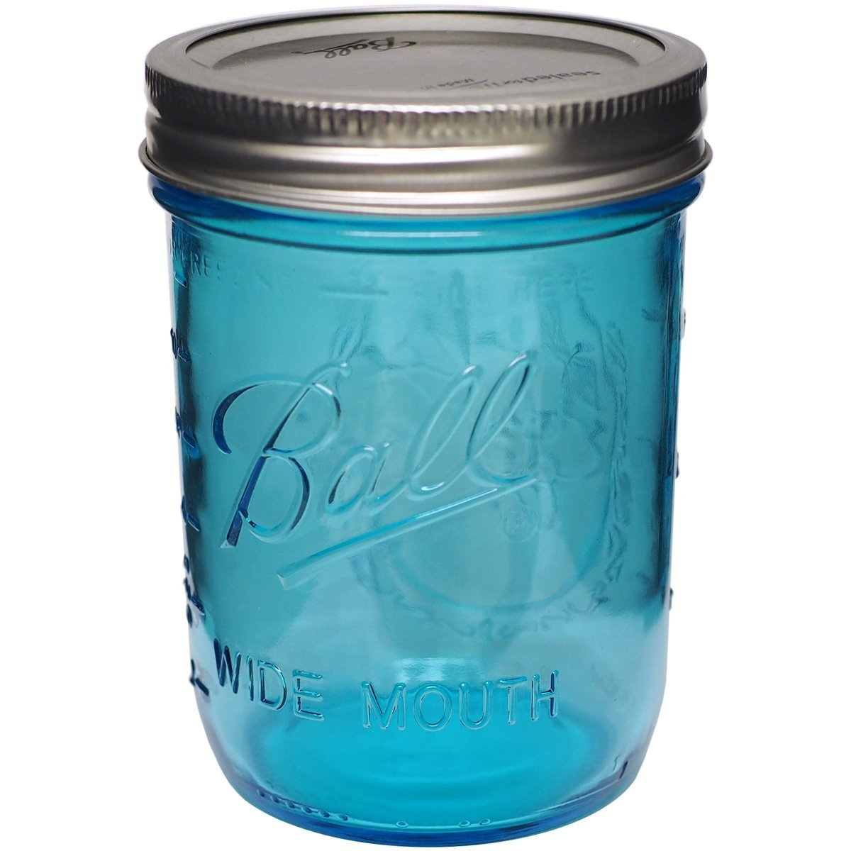 Ball (R) Wide Mouth Canning Jar-Pint Blue