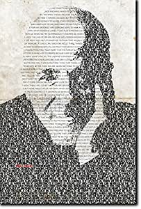 Paulo Coelho Unique Typographic Portrait - Art Print on Glossy Photographic Paper - Unique Poster Gift 12x8
