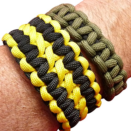 Paracord / Parachute Cord. 7 Strand, 550 Lb. Break Strength. Guaranteed U.S. Made, Type III Military Survival 550 Cord. 25 colors for Bracelets and Projects. Includes Two eBooks.