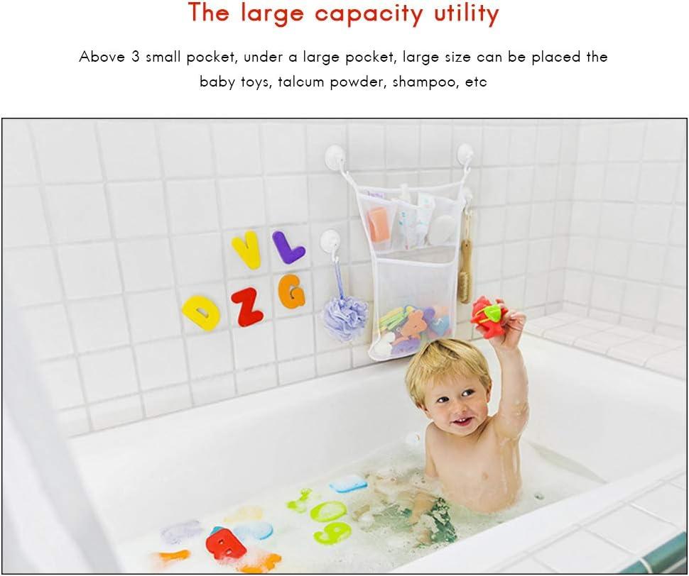 Baby Bath Bathtub Toy Mesh Net Storage Bag Suction Cup Bathroom Toy Organiser