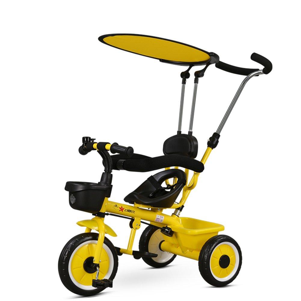 XQ 軽量 耐衝撃性 子供 1-3歳 トロリー ベビーキャリッジ 子ども用自転車 ( 色 : イエロー いえろ゜ ) B07CG2KSYPイエロー いえろ゜