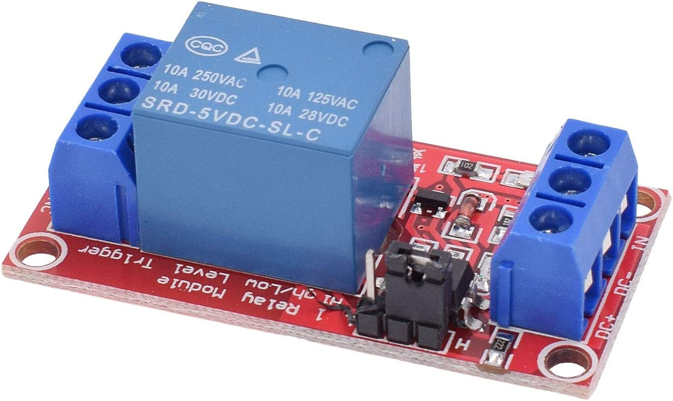 Valefod DC 12V Relay Module 1-Channel Relay Switch with Optocoupler Isolation High//Low Level Trigger Pack of 10