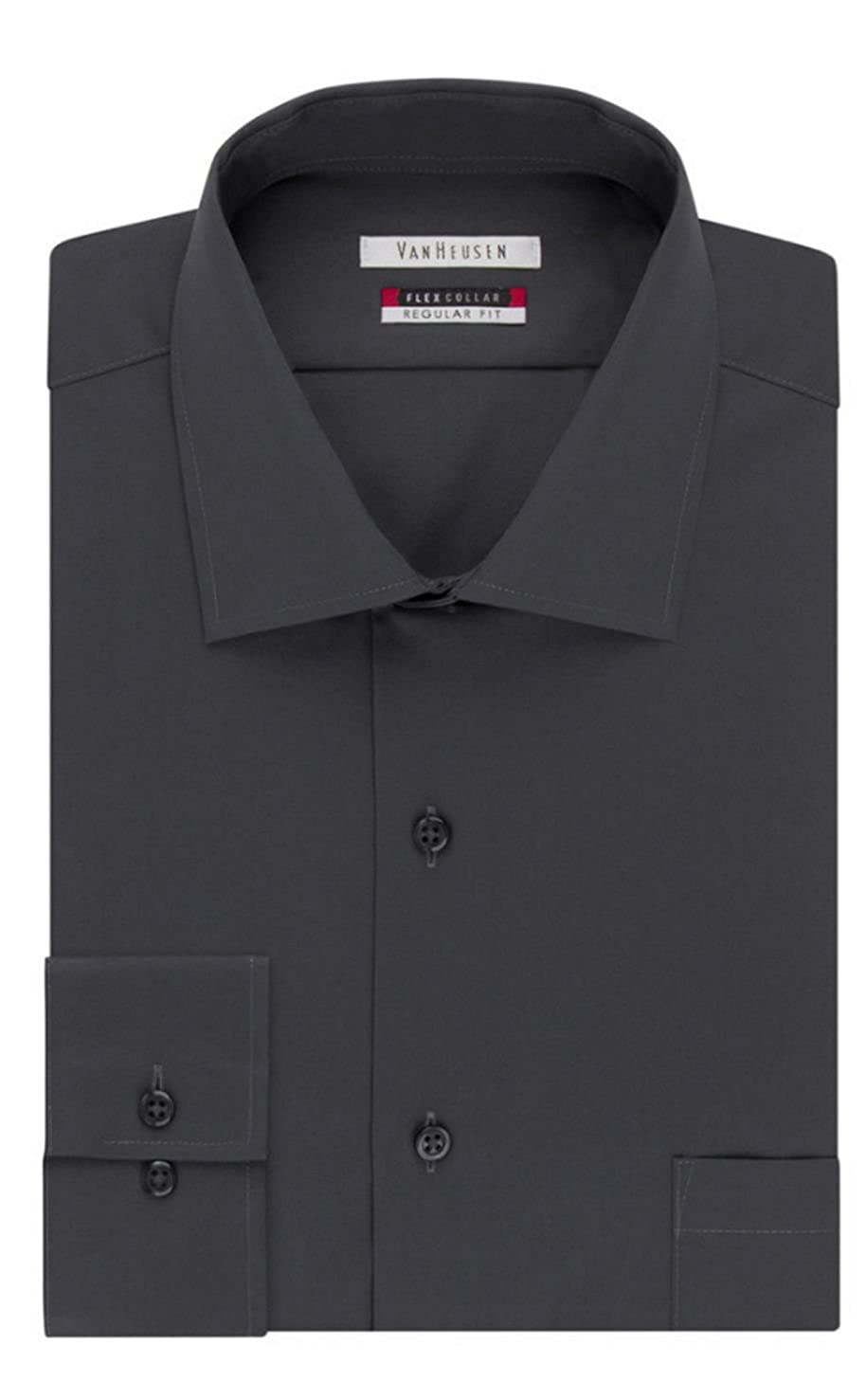 Van Heusen Mens Flex Collar Regualr-Fit Dress Shirt Neck 15 Sleeve 32//33, Charcoal