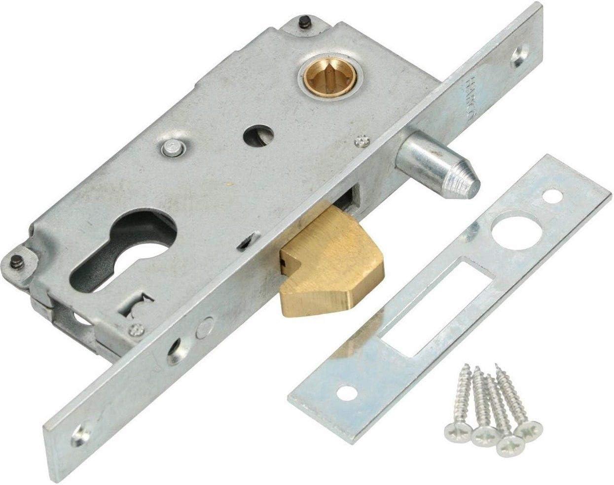 KOTARBAU® - Cerradura de gancho para puerta corredera 72/40 mandril de guía para puerta corredera, cierre de ganchos, resistente a la corrosión, chapa de cierre, puerta de entrada