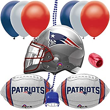 New England Patriots Football Helmet Balloon Super Bowl Party 11pc Pack f579a85a8