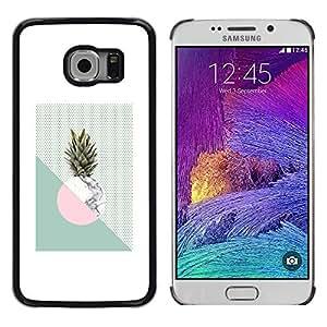 Shell-Star Arte & diseño plástico duro Fundas Cover Cubre Hard Case Cover para Samsung Galaxy S6 EDGE / SM-G925 / SM-G920A / SM-G925T / SM-G925F / SM-G925I ( Pineapple Moon Weed Green White )