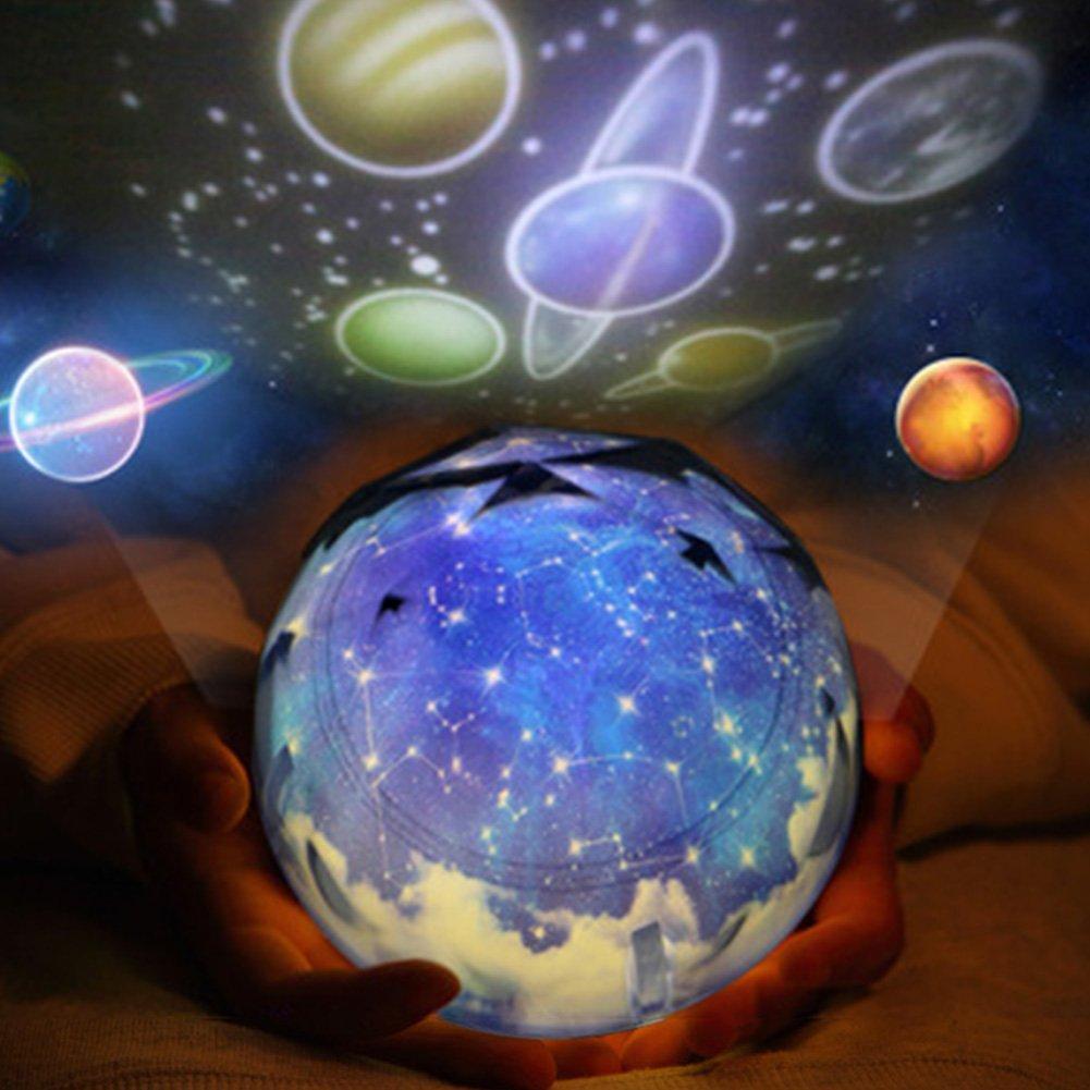Carole4 Night Lighting Lamp, Planet Magic Projector Light ...