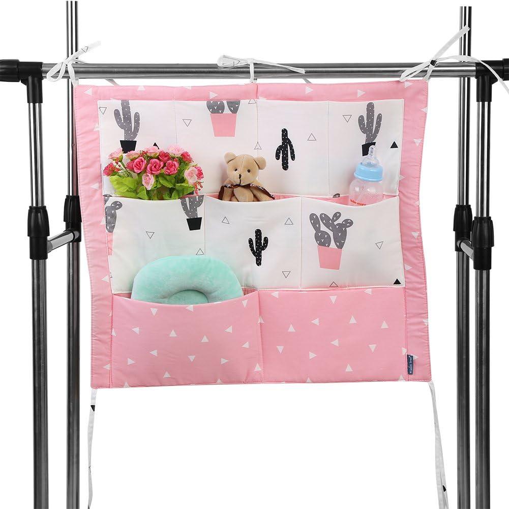#1 Zerodis Babybett Tasche H/ängende Aufbewahrungstasche mit 9 Taschen Windel Spielzeug Kleidung Betttasche Kinderwagen Buggy Dekor Mehrfunktional
