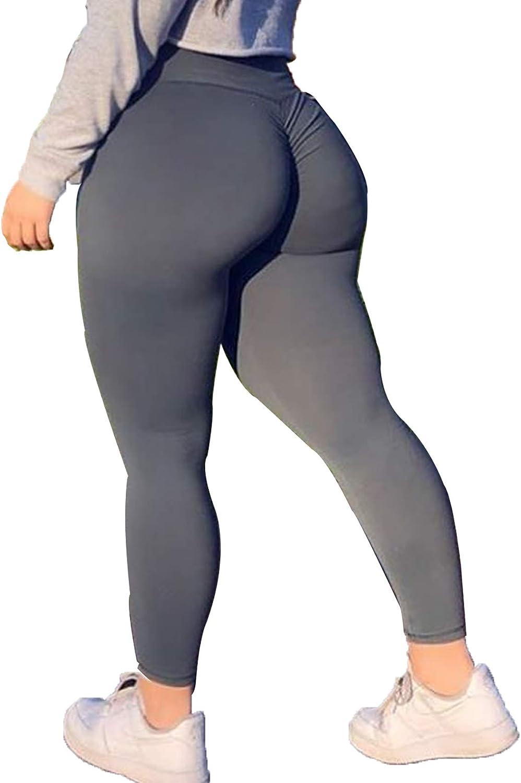 RIOJOY Scrunch Seamless Leggings Women High Waist Ruched Butt Lifting Gym Sports Leggings