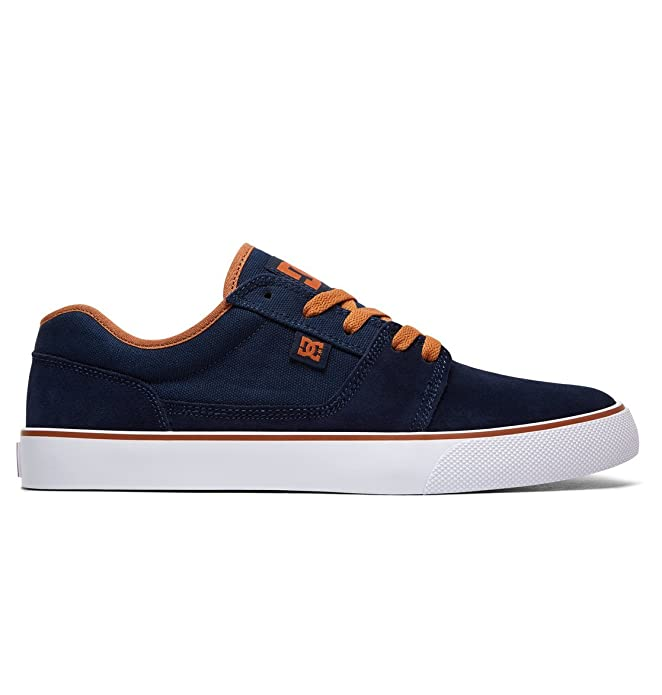 DC Shoes Tonik Sneakers Skateboardschuhe Herren Damen Unisex Erwachsene Navyblau/Orange
