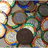 Chocolate Casino Chips - Las Vegas Poker Coins in Colorful Foil - 1 Pound