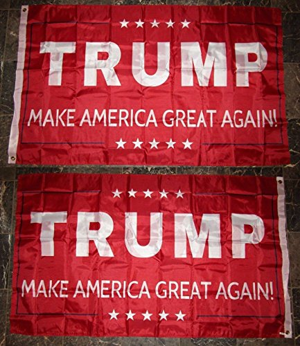 Cheap 3X5 Trump Make America Great Again Red 2 Faced 2-Ply Wind Resistant Flag 3X5Ft