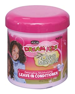 African Pride Dream Kids Olive Miracle Leave-In Conditioner 15 oz(Pack of 2)