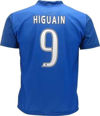 Camiseta Jersey Azul Futbol Juventus Gonzalo Higuain 9 Replica Talla de Niño Autorizado