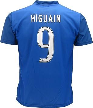 Camiseta Jersey Azul Futbol Juventus Gonzalo Higuain 9 Replica Talla de Niño Autorizado: Amazon.es: Deportes y aire libre