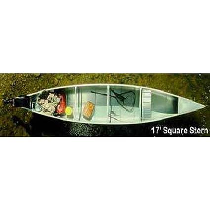 Amazon com : Grumman 17' Square Stern  050 Canoe - Natural