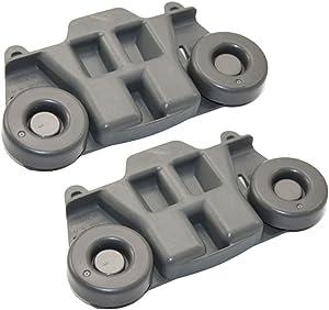 WPW10195417 Dishwasher Roller Rack Wheels(2PCS) for Whirlpool Jenn-Air Ken-more Kitchen-aid Lower Rack AP6016764, PS11750057, W10195417, 1872128