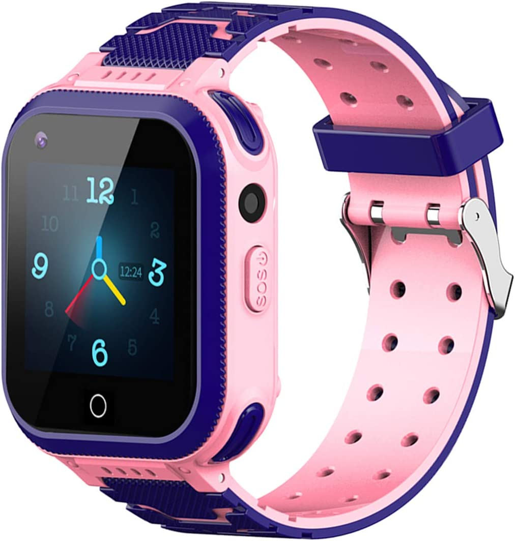 Beacon Pet Kids Smartwatch, 4G WiFi GPS LBS Tracker SOS Emergency Call Video Chat Children Smartwatches, IP67 Waterproof Phone Watch for Boys Girls, Compatible with Android/iPhone
