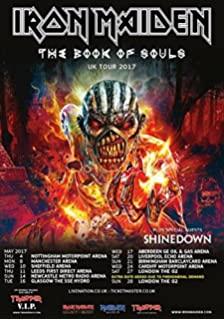 9a8f4010f81d IRON MAIDEN The Book Of Souls 2017 UK Tour PHOTO Print POSTER Shinedown  World 57 A3