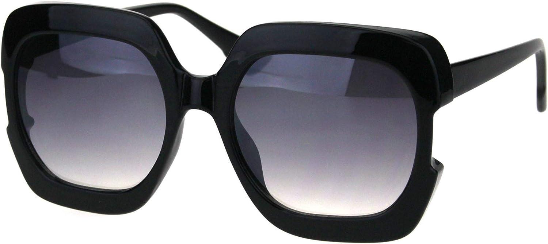 Womens Oversized Square Sunglasses High Temple Fashion UV 400