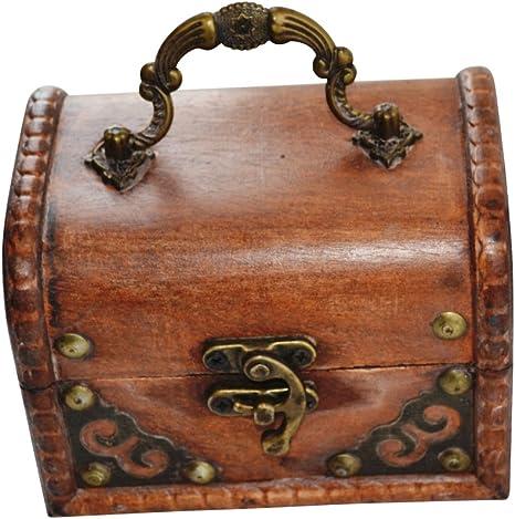 etc. piratentruhe-bo/îte /à bijoux-id/éal pour les dons en esp/èces NS coffre de pirate en bois-rond-petit tr/ésor